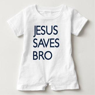 Jesus Saves Bro Baby Bodysuit