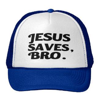 Jesus Saves Bro funny Cap