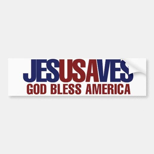 Jesus Saves Bumper Stickers