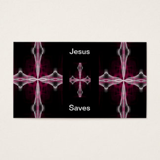 Jesus Saves business cards