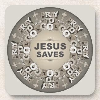 Jesus Saves Coasters
