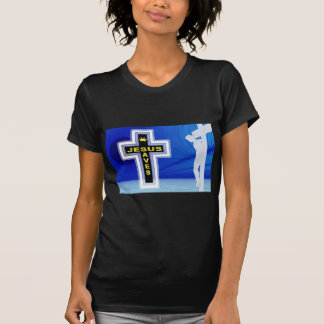 Jesus saves crucifixion picture tshirts
