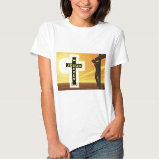 Jesus saves crucifixion picyure tshirt