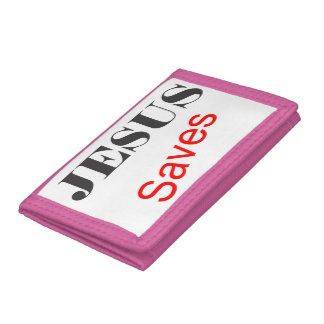 Jesus Saves Eye Catchy Wallet