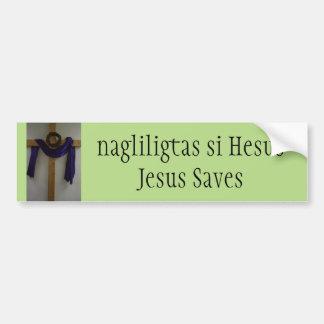 Jesus Saves (Filipino) Bumper Sticker