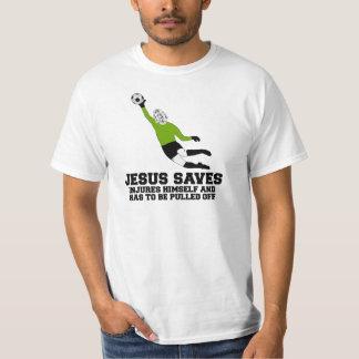 Jesus saves football T-Shirt