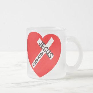 Jesus Saves (Heart) Coffee Mugs