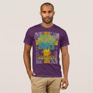 Jesus Saves - He's My Super Hero T-Shirt
