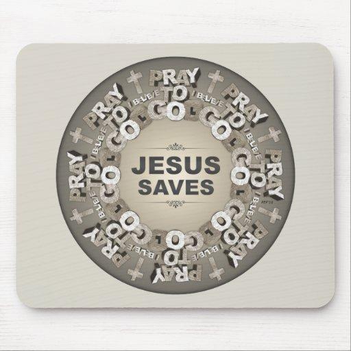 Jesus Saves Mousepads