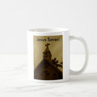 Jesus Saves! Coffee Mugs