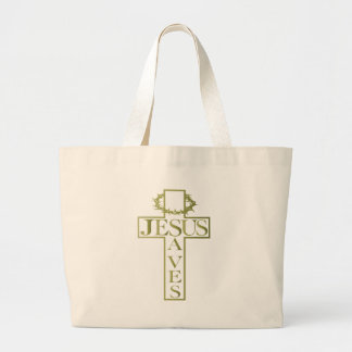 jesus saves od gradient canvas bags