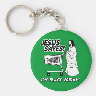 JESUS SAVES ON BLACK FRIDAY KEYCHAIN
