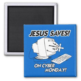 JESUS SAVES ON CYBER MONDAY MAGNET