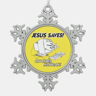 JESUS SAVES ON CYBER MONDAY ORNAMENTS