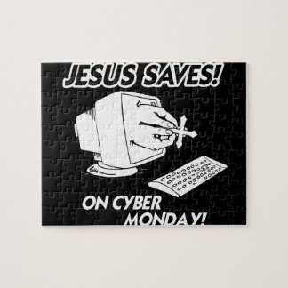 JESUS SAVES ON CYBER MONDAY JIGSAW PUZZLES