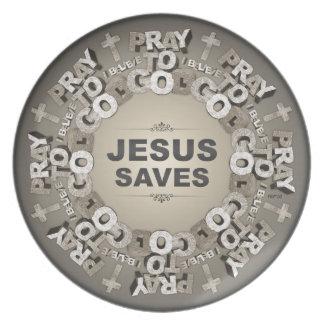 Jesus Saves Plates