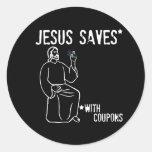 Jesus Saves Round Stickers
