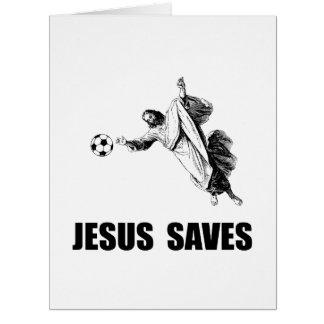 Jesus Saves Soccer Big Greeting Card
