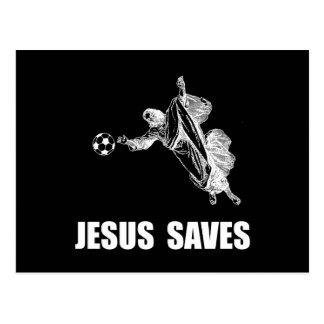 Jesus Saves Soccer Postcard