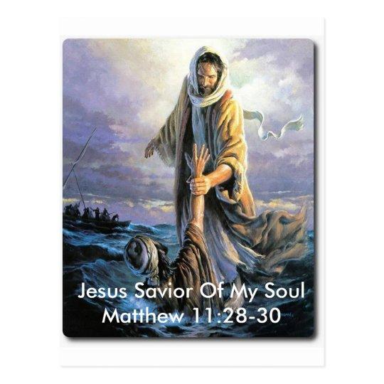 Jesus Saviour Of My Soul Postcard