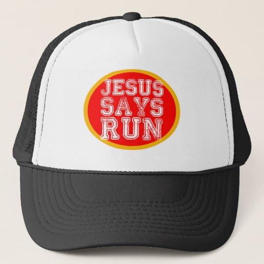 jesus says run cap