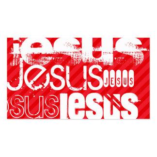 Jesus; Scarlet Red Stripes Pack Of Standard Business Cards