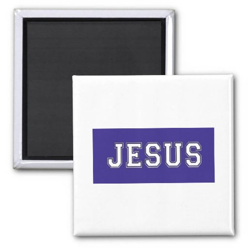 JESUS School Colours White Deep Blue Refrigerator Magnet