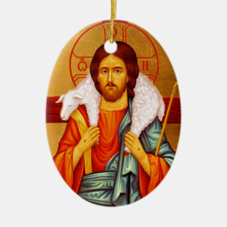 Jesus Seeker of Lost Sheep Christmas Ornament