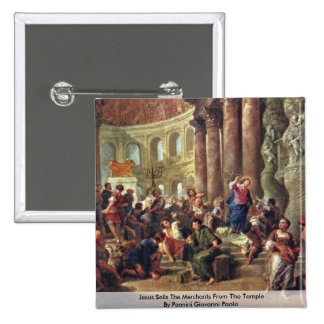 Jesus Sells The Merchants From The Temple 15 Cm Square Badge