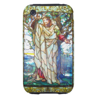 Jesus sermon on the mount - Stained Glass iPhone 3 Tough Case