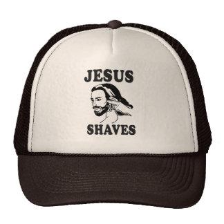 JESUS SHAVES MESH HATS