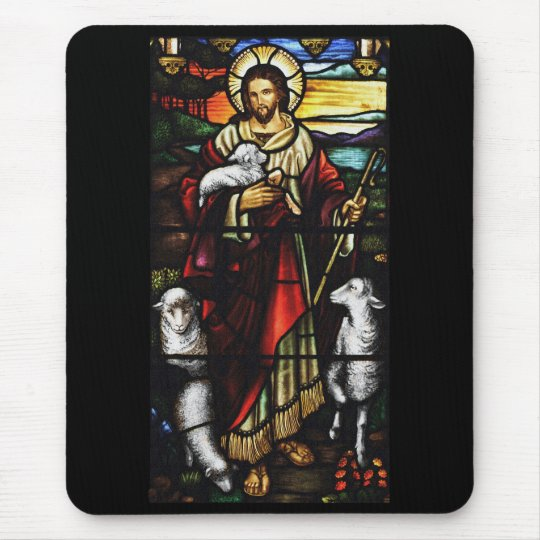 Jesus Shepherd with His Sheep Mouse Mat