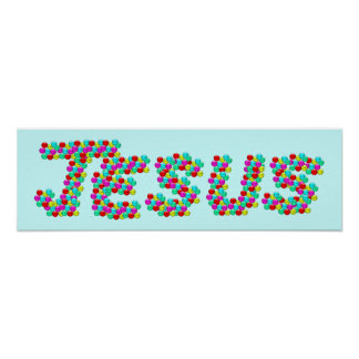 JESUS - Smiley Faces Poster