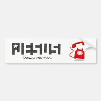 JESUS STAR ANSWER THE CALL BUMPERSTICKER BUMPER STICKER