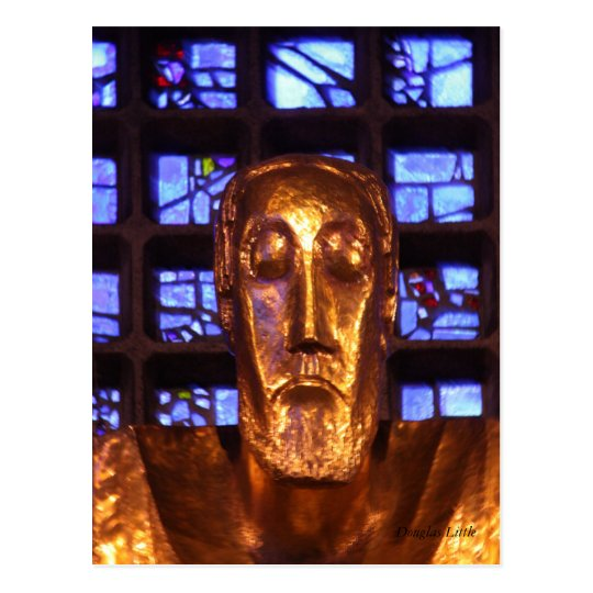 Jesus Statue, Kaiser Wilhelm Memorial Church Postcard