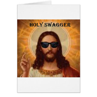 Jesus swagger.jpg greeting card