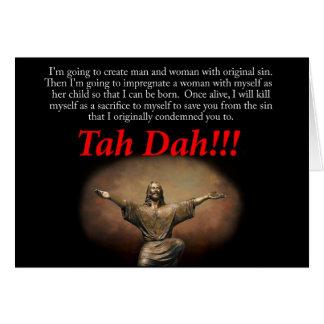 Jesus ta da Holiday card