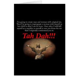 Jesus.  Tah Dah!!! Card
