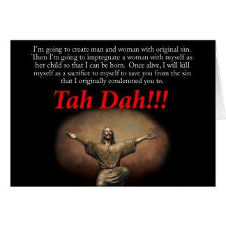 Jesus Tah Dah Christmas Cards