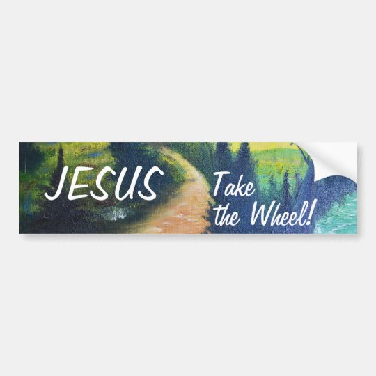 Jesus Take the Wheel Bumper Sticker