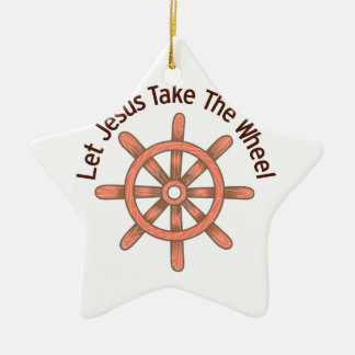 Jesus Take The Wheel Christmas Ornament