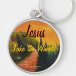 Jesus Take the Wheel Keychain