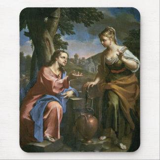 Jesus Teaches Samaritan Woman Mousepads