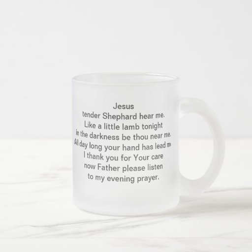 Jesus Tender Shephard hear me Mug