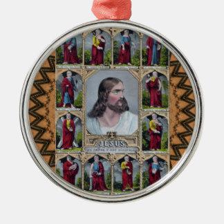 Jesus & The 12 Apostles Silver-Colored Round Decoration