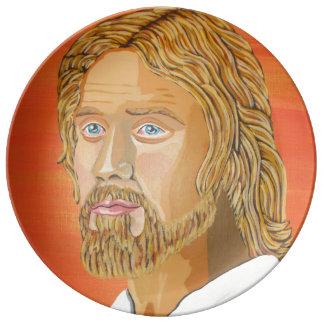 Jesus the carpenter plate