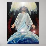 Jesus, The Light of the World christian art earth Poster
