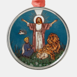 Jesus the Lion and the Lamb Christmas Ornament