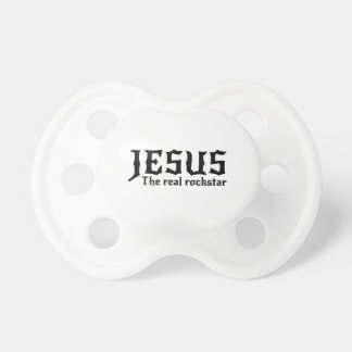 Jesus the Real Rockstar Baby Pacifiers