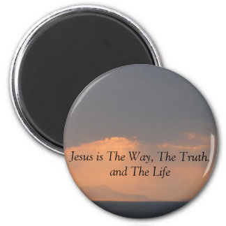 Jesus - The WAY, The TRUTH and The LIGHT 6 Cm Round Magnet